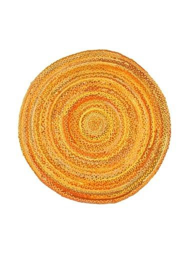 MarkaEv Flatweave Jüt El Halısı Altın